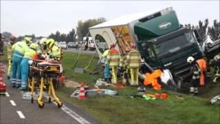 Dode en gewonde bij ernstig ongeval op A28