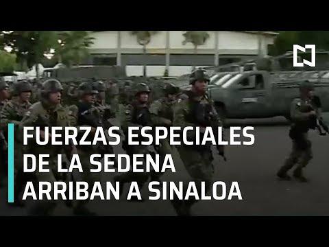 Fuerzas especiales de la SEDENA llegan a Sinaloa - Las Noticias