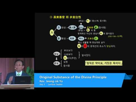 OSDP 2017 Day 3 Session 2 - Original Substance of the Divine Principle Absolute Sex Education