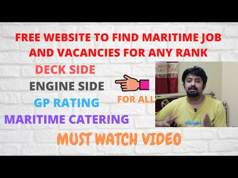 FREE WEBSITE TO FIND MARITIME JOB AND VACANCIES FOR ANY RANK