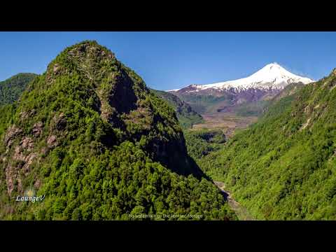 4K Drone Mountains Volcano Chile Stock Footage Clip 16