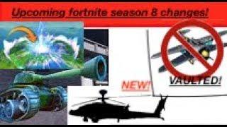 Fortnite saison 8 fuite! Avions voûtés! Des chars et des hélicoptères ! Gratuit 100 000 000 $!