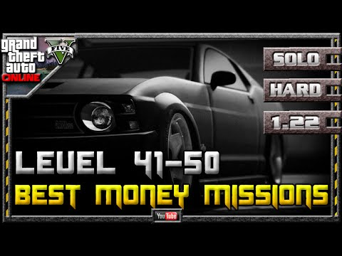 GTA 5 Online - Best Money Missions for Low Mid Level Players 1.22 (Farming Guide SOLO Hard GTA V)