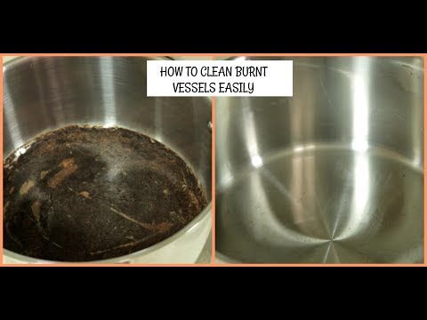 TAMIL VLOG:HOW TO CLEAN BURNT VESSELS EASILY||VESSEL CLEANING