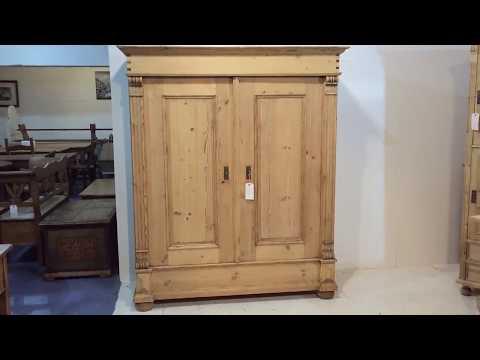Large 19th Century Pine Wardrobe - Pinefinders Old Pine Furniture Warehouse