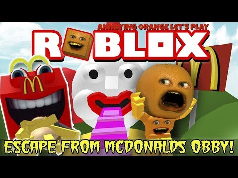 Annoying Orange Plays - Roblox: Escape From McDonalds Obby (BIG MAC HEART-ATTACK!)