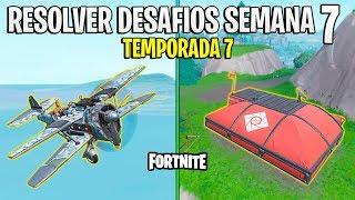 FORTNITE - COMO RESOLVER OS DESAFIOS DA SEMANA 7 DA TEMPORADA 7!