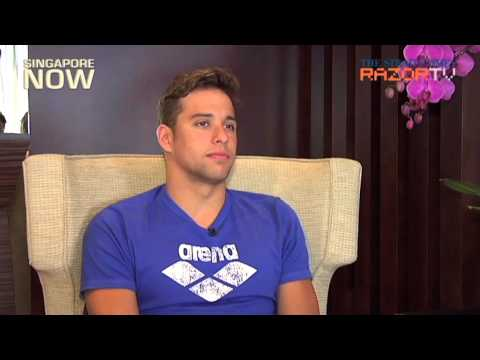 Olympic swimming superstar Chad Le Clos in Singapore
