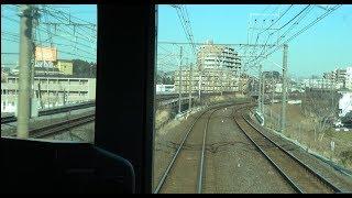 車両スピーカーの発車メロディは実際には列車内がうるさくなっていることを確認できる柏駅~北柏駅を走行する常磐緩行線下りE231系2000番台の前面展望