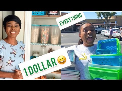 SHOP WITH ME / ORGANIZING MY PANTRY WITH ITEMS FROM DOLLAR TREE