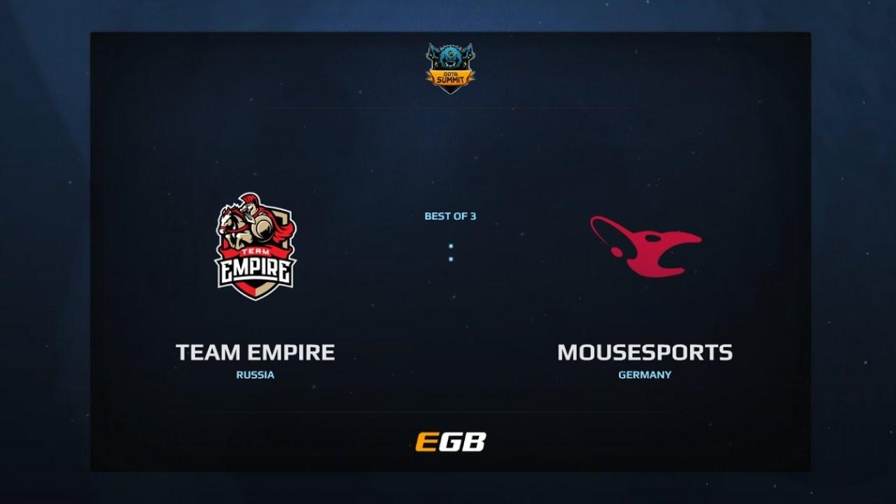 Empire vs Mousesports, Game 1, Dota Summit 7, EU Qualifier