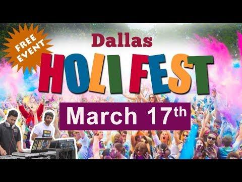 Dallas Holi Fest 2018 - Fair Park - Dallas, Organized by Radha Krishna Temple of Dallas