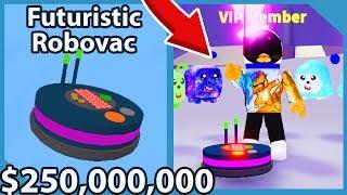 I BOUGHT El $250,000,000 Robovac Futurista En Roblox Vacuum Simulator