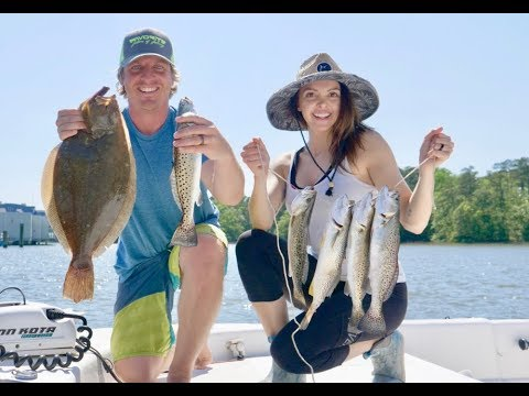 1 Lure Challenge Catch and Cook - Flounder, Trout, and Weakfish Catch Clean and Cook