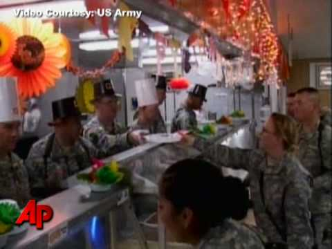 U.S. Troops Celebrate Thanksgiving Day