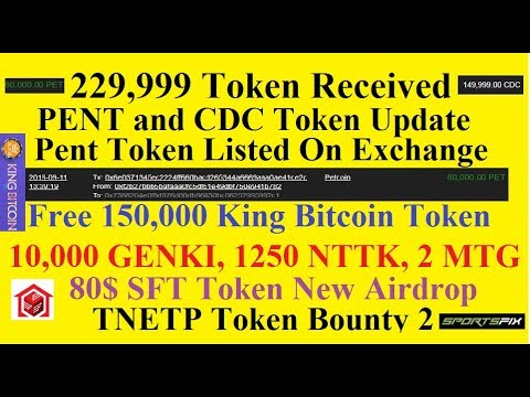 Received 22900 Token From Airdrop|| Pent Token Exchange Update|| 150000 King Bitcoin New and 5 More