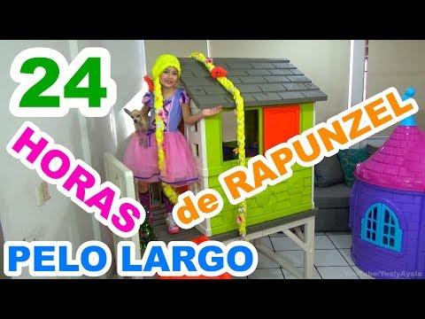 24 HORAS CON PELO LARGO DE RAPUNZEL | HACIENDO SLIME Y MUCHAS SORPRESAS MÁS // YESLY