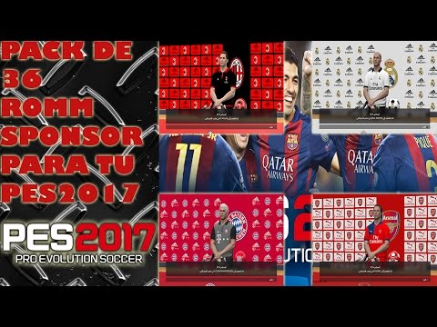 PES 2017 Room sponsor Pack ( 36 pack ) by Pes Parche Tutos