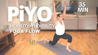 35 MIN PiYO Yoga-Flow Workout | At Home No Equipment #60 #61