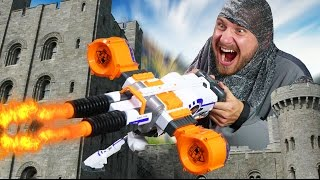 NERF Defend your Castle Challenge! [Ep. 1]