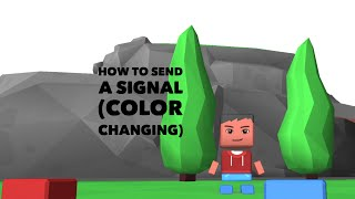 Blocksworld tutorials:how to send a signal (color changing)