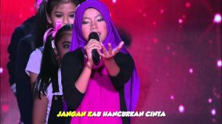 Video Ceria Popstar 2016: [KARAOKE] Jun 'Syurga' download MP3, 3GP, MP4, WEBM, AVI, FLV Mei 2018