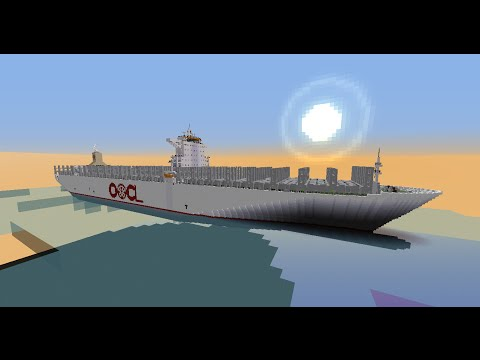 OOCL Chongqing In Minecraft