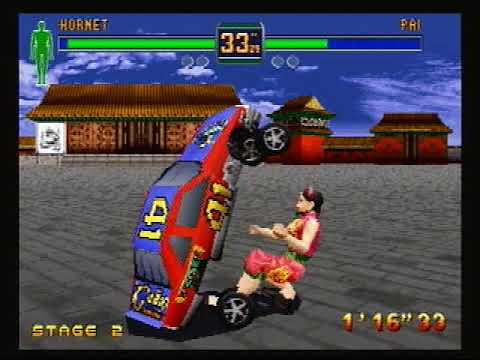 Sega Saturn Fighters Megamix hornet gameplay