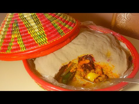 "በየአይነት አገልግል አሰራር ( Ethiopian traditional food ""Injera Agelgel"")/Ethiopian Food"