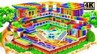 ASMR - Build Amazing MEGA Mansion Has Swimming Pools Fish Tank for Golden Fish (Satisfying)