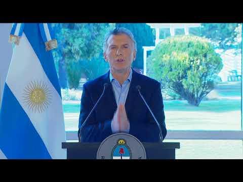 Palabras del señor presidente Mauricio Macri
