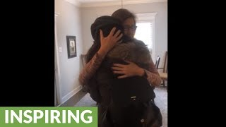 Expecting couple surprise family and friends with pregnancy announcement