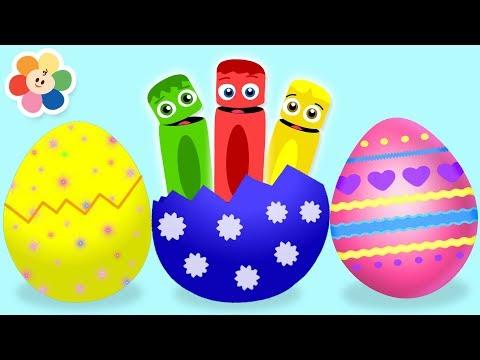 Aprende Colores y Números con Huevos y Sorpresas para Niños | BabyFirst Español