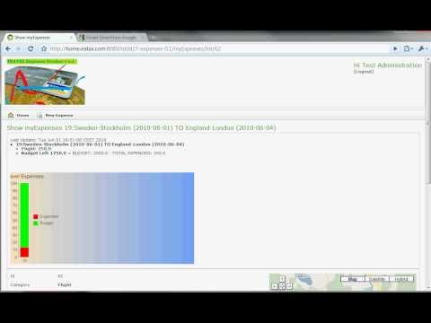 Travel Expenses Tracker Software ScreenCast Linkoping University in Sweden
