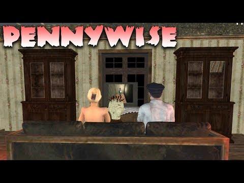 Клоун Пеннивайз на русском! Ужасный Клоун Пеннивайз! Horror Clown Pennywise Scary Escape Game
