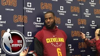 [FULL] LeBron James on idea of a playoff play-in tournament: 'That's wack'   NBA on ESPN