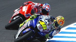 Best Battle Valentinorossi Vs Stoner 2008 | Motogp Sachsenring | Germany 2008
