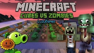 PLANTS VS ZOMBIES en Minecraft!!! - [LuzuGames]