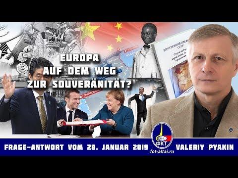 Davos und der deutsch-französische Vertrag von Aachen (2019.01.28 Valeriy Pyakin)