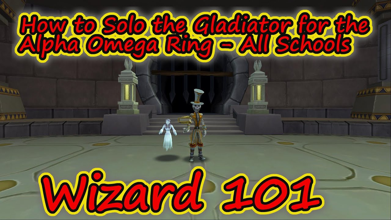 Wizard101: Gladiator Dimachaerus Solo Strategy for All Schools Alpha Omega  Ring