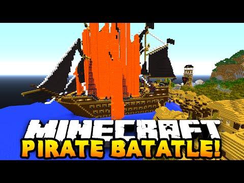 Minecraft EPIC PIRATE BATTLE! (1v1v1v1v1 Battle) w/ PrestonPlayz & The Pack!