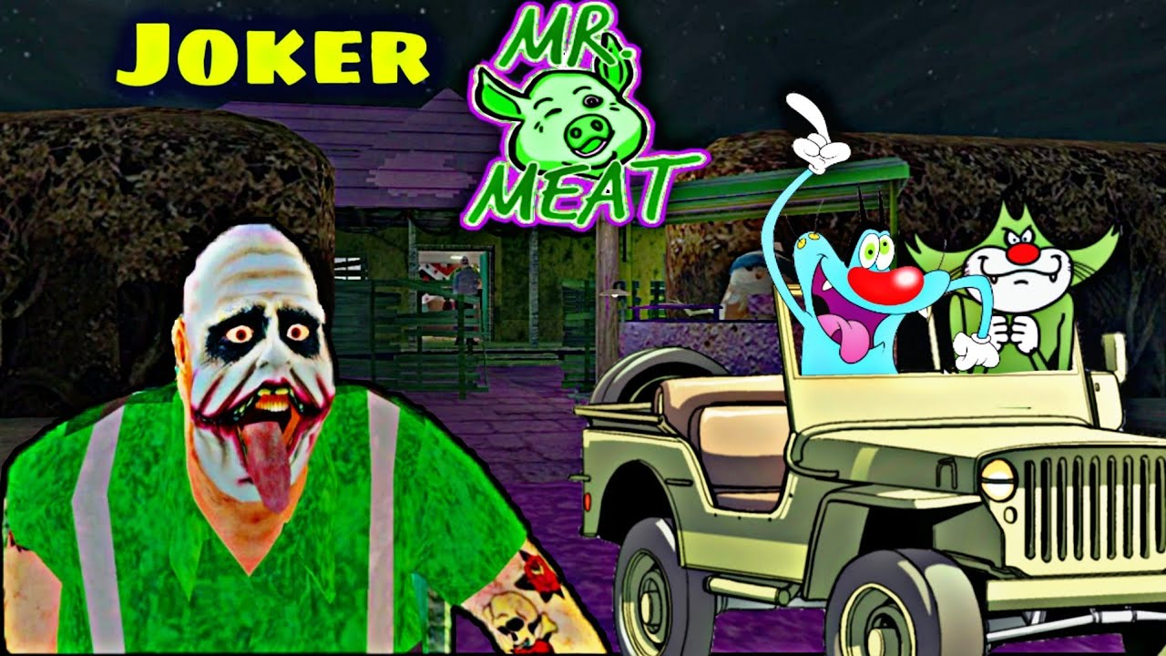 Joker Mr Meat se Mulakaat- Joker Mr Meat full gameplay with oggy and Jack
