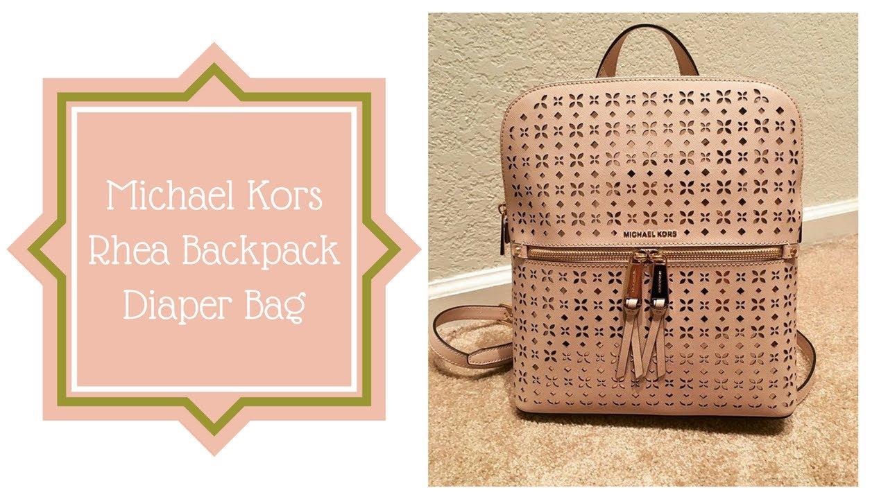 d53b70a3bd14 Michael Kors Backpack Diaper Bag - YouTube