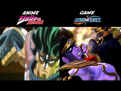 COMPARING JUMP FORCE VS ANIME: JOJO'S BIZARRE ADVENTURE (BONUS:TIME STOP GLITCH)