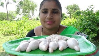 Village Food Cooking Goat Balls Curry | Lamb Balls Recipe | How To Cook Goat Balls Fry Recipe