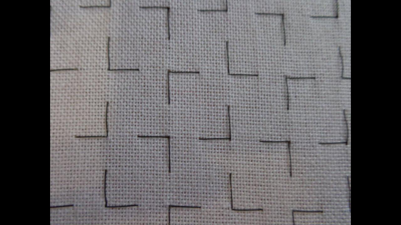 Разметка канвы вышивка крестом