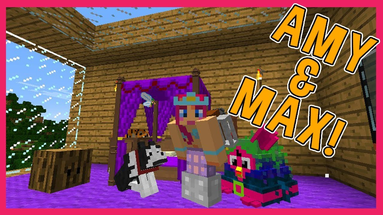 Amy Amp Max Ep6 MY NEW BEDROOM Minecraft Amy Lee33