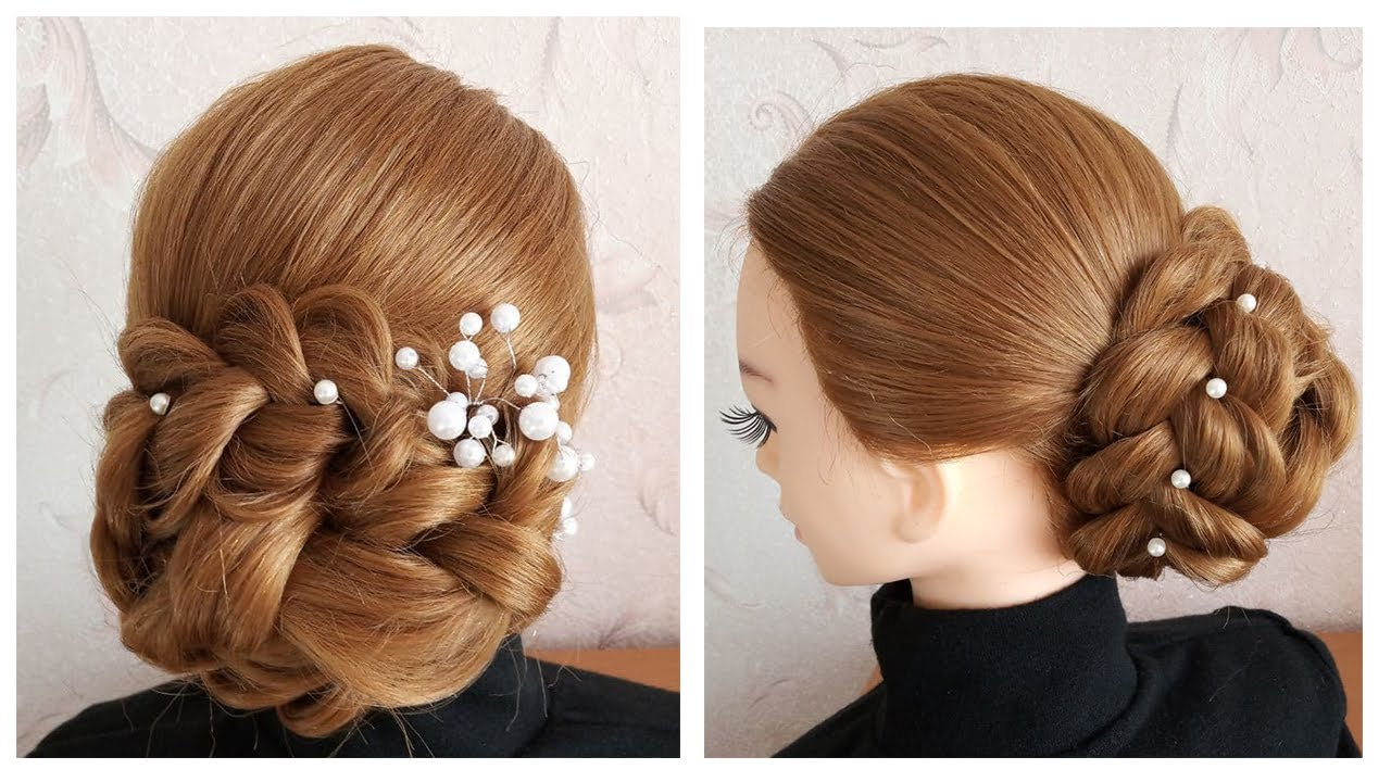 Latest unique juda hairstyle for bridal   3 Minute EASY UPDO with ponytails   Chignon rapide, facile