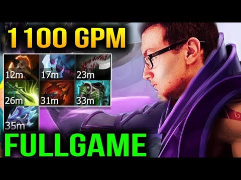 MIRACLE 1100 GPM ANTI MAGE FULL GAME Dota 2 7.11