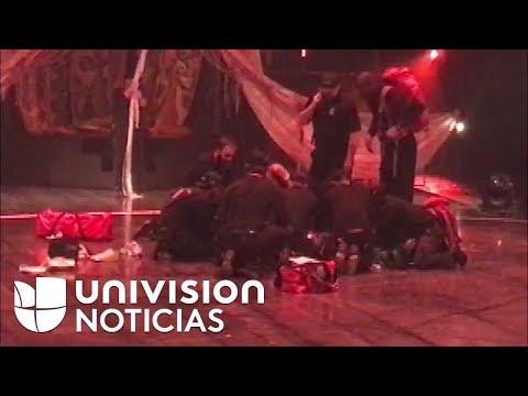 Muere un acróbata del Cirque du Soleil al caer de 12 pies durante su actuación en Tampa